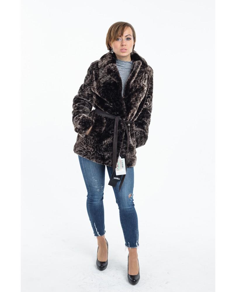 Жакет женский, модель: 09-17, мех: овчина,  цвет: коричневый