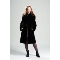 Пальто женское, модель: 12-19, мех: овчина,  цвет: фиолетовый