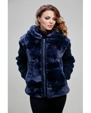 Жакет женский, модель: 21-15, мех: овчина,  цвет: фиолетовый