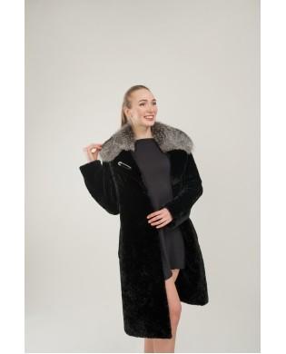 Пальто женское, Модель: 27-18, Мех: овчина