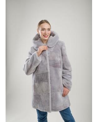 Полупальто женское, Модель: 30-18, Мех: овчина