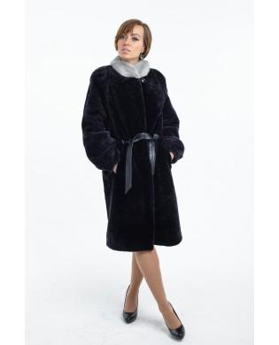 Пальто женское, модель: 33-17, мех: овчина,  цвет: графит