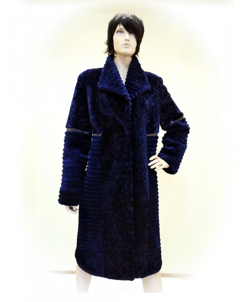 Пальто женское, Модель:01-17, Мех: овчина