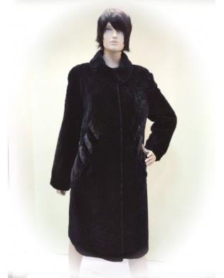 Пальто женское, Модель:12-19, Мех: овчина