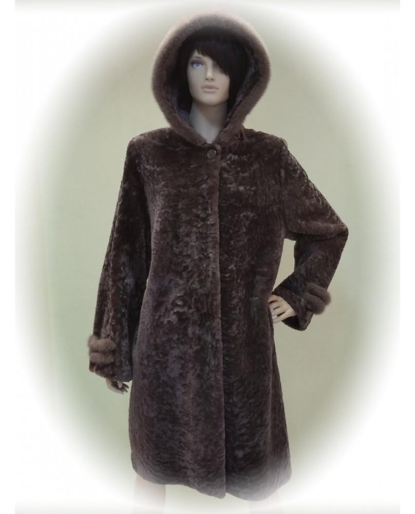 Пальто женское, Модель:18-18, Мех: овчина
