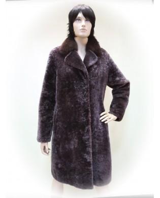Пальто женское, Модель:28-18, Мех: овчина