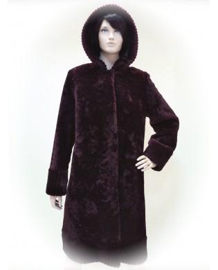 Пальто женское, Модель:48-16, Мех: овчина
